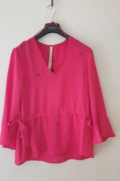 Top manches 3/4 froncé taille PINKO