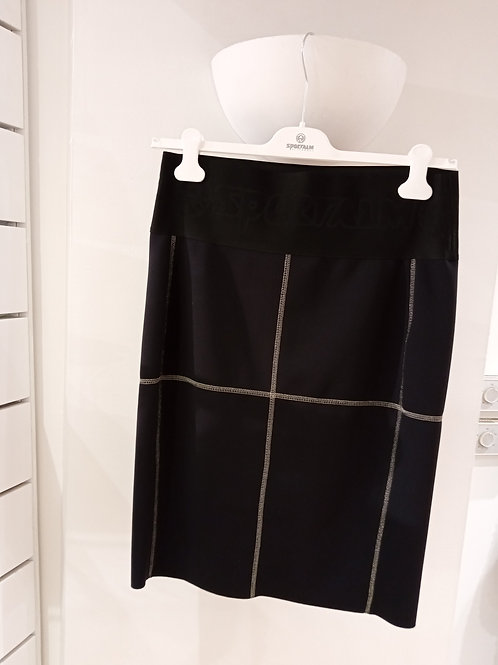 jupe noir elasthane sportalm