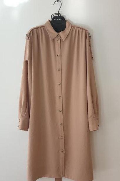Robe beige chemise PINKO