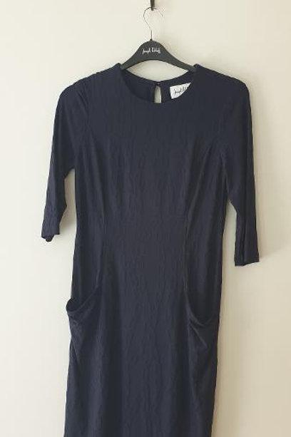 Robe bleue marine manches 3/4 Joseph RIBKOFF