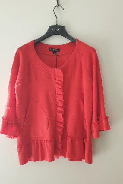 Cardigan rouge TRICOT CHIC
