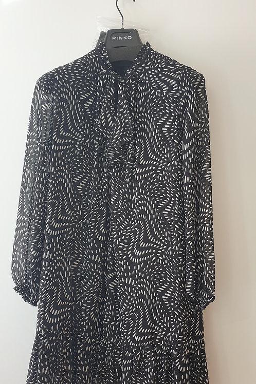 Robe voile noir et blanc PINKO