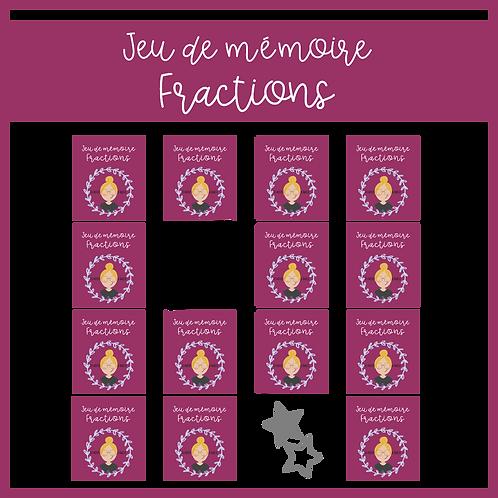 Jeu de mémoire - Fractions