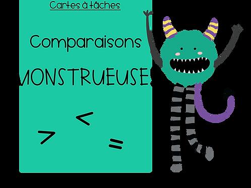 Cartes à tâches - Comparaisons de nombres entiers