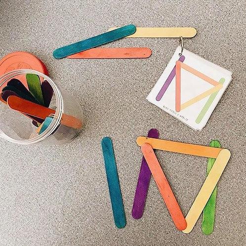 Cartes-jeu bâtons de popsicle
