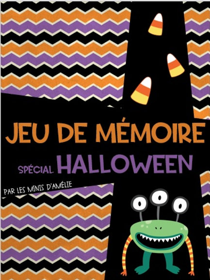 Jeu de mémoire Halloween