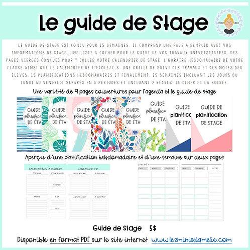 Guide de stage (15 semaines et moins)