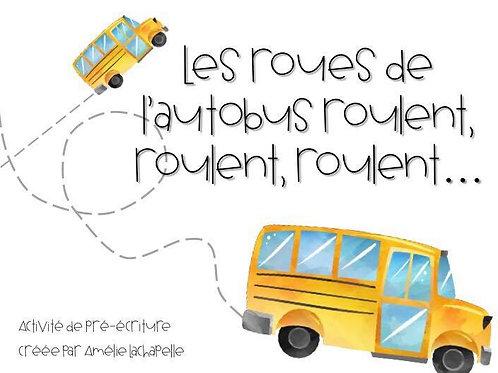 Activité de pré-écriture : Les autobus