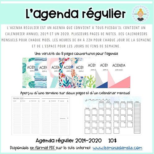 Agenda régulier 2019-2020