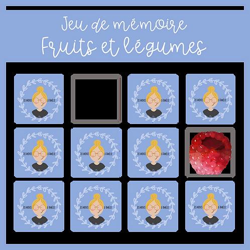 Jeu de mémoire - Fruits et légumes