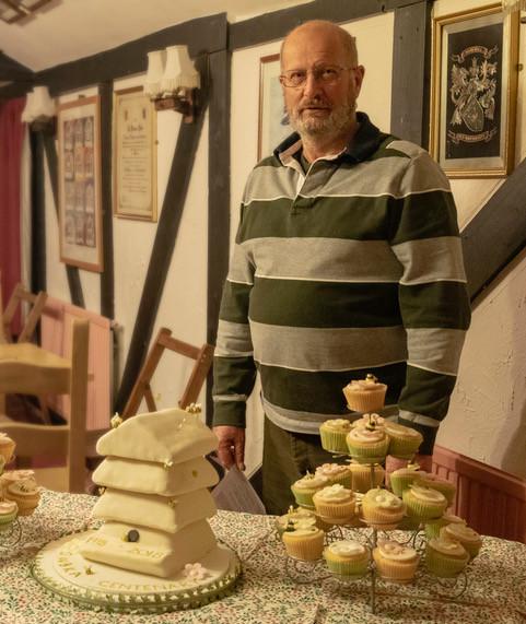 Tony Yeats with the cake display