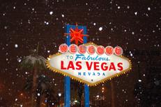 Beautiful winter eve in Vegas