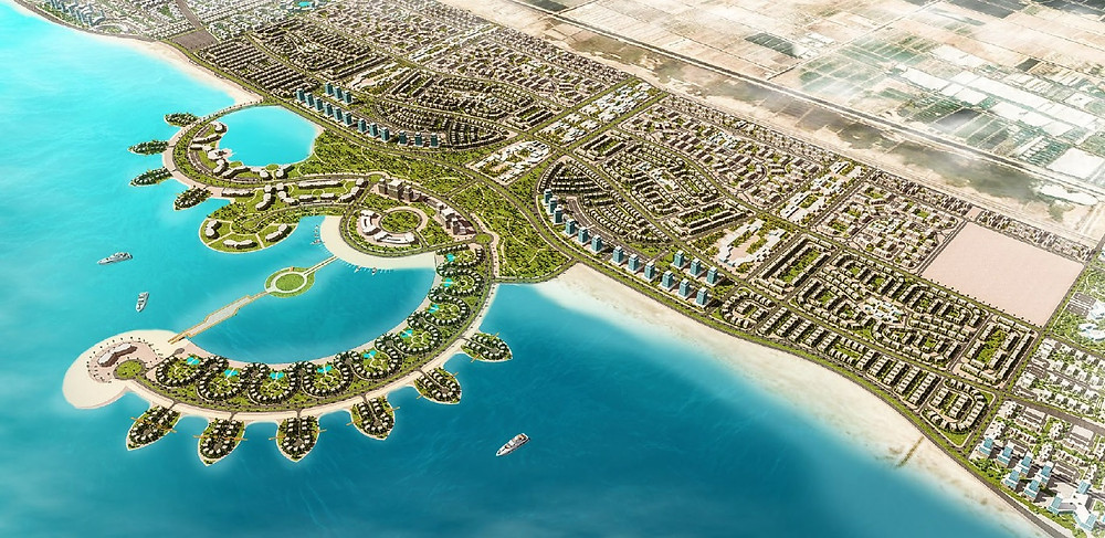 Zahya New Mansoura view of the master plan from the Mediterranean Sea