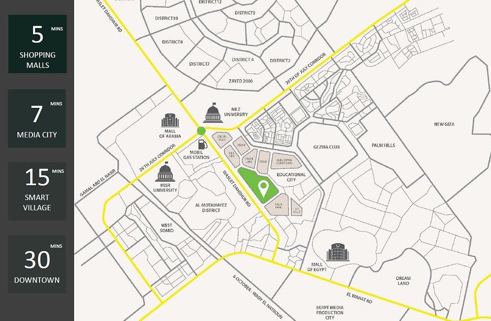 Location of Keeva. in 6 October City