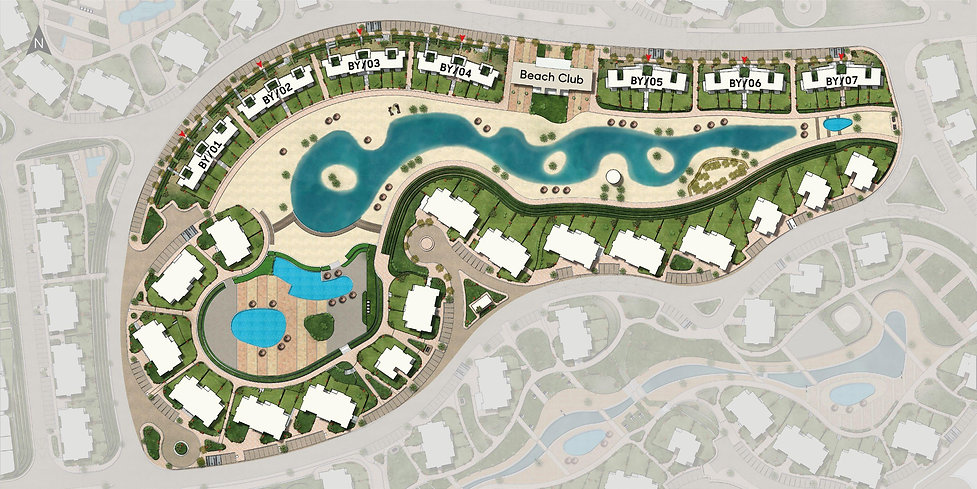 master plan for Bayou in Makadi Heights