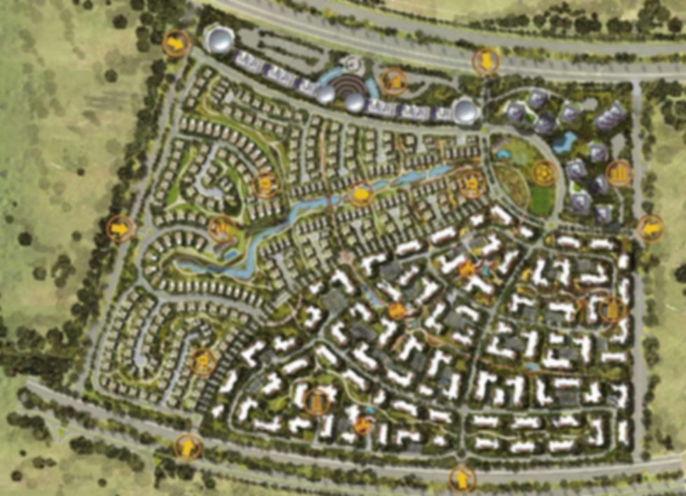 master plan for IL Bosco New Capital by Misr Italia