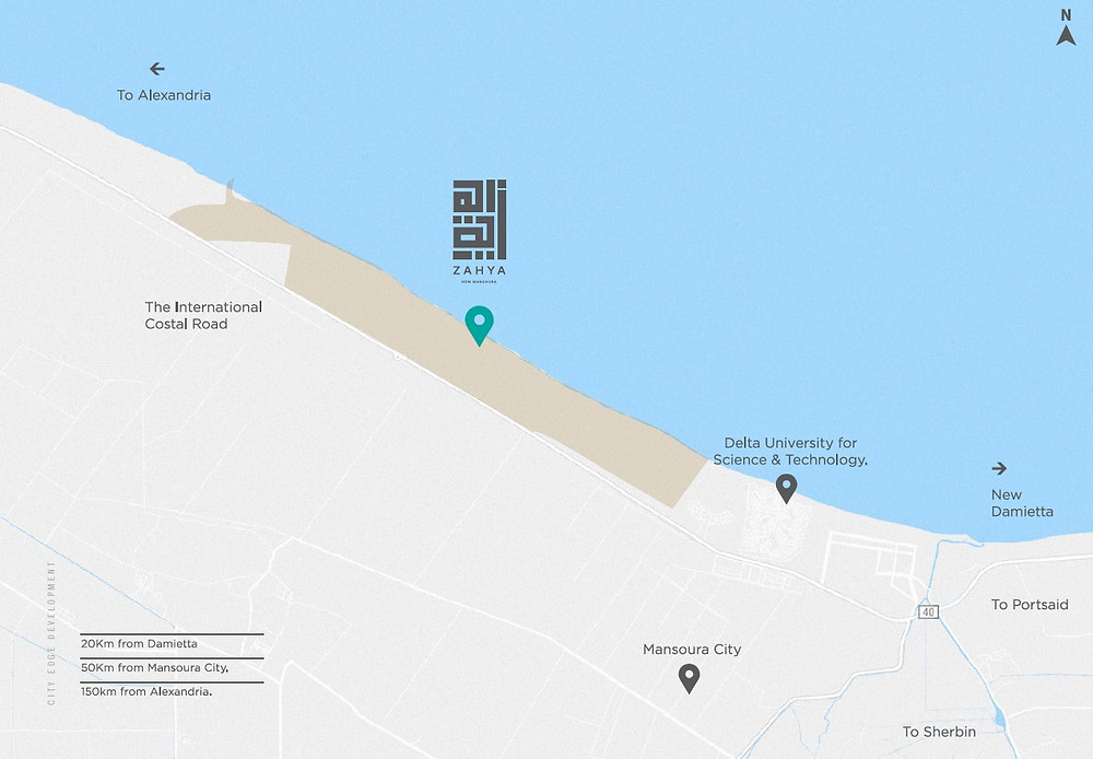 Location of Zahya New Mansoura
