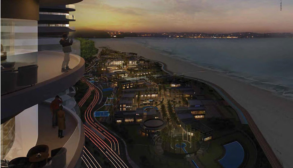 the breathtaking direct sea view from North Edge Towers in New Alamein City