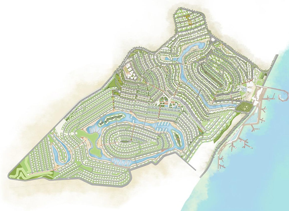 Master Plan of IL Monte Galala