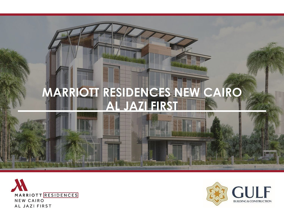 Al Jazi First JW Marriott Residences New Cairo