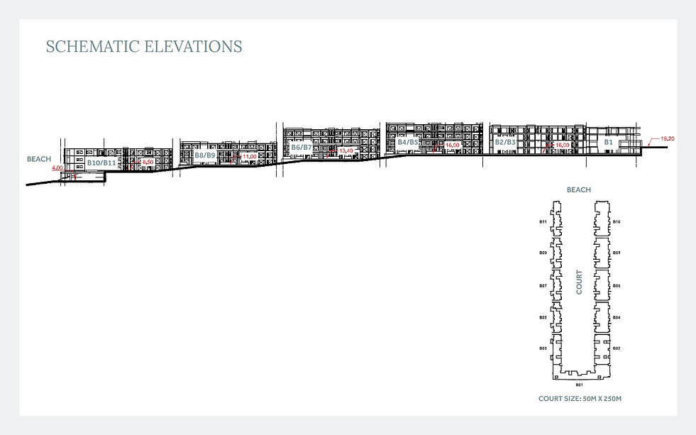 Elevations of buildings at The House Hotel & Residence in Fouka Bay