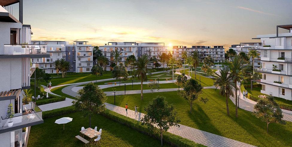 V Residences in New Cairo Landscape design