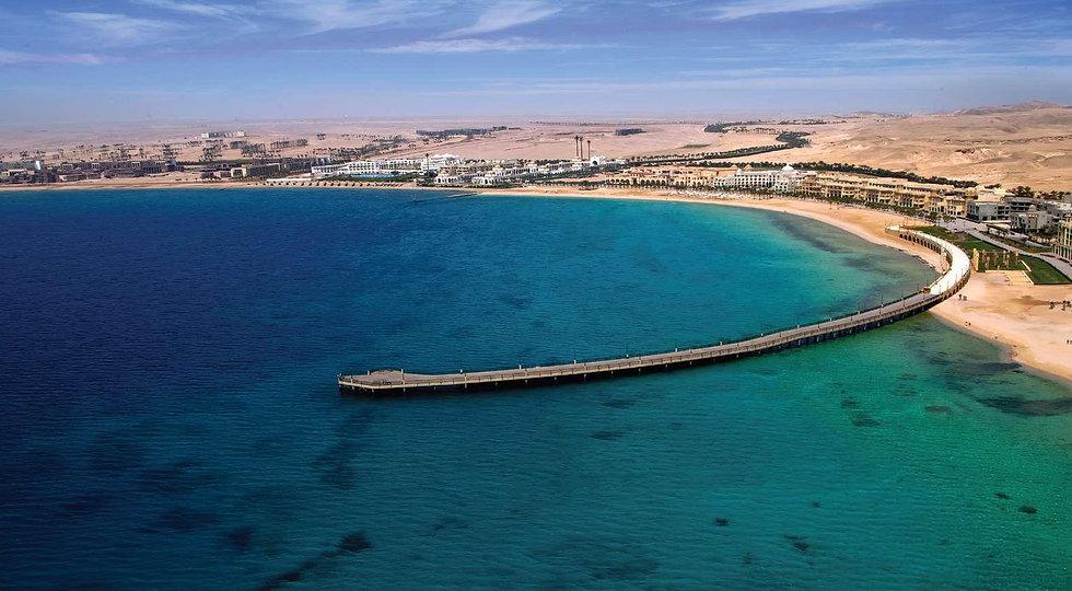 The beautiful view of Sahl Hasheesh Bay Red Sea
