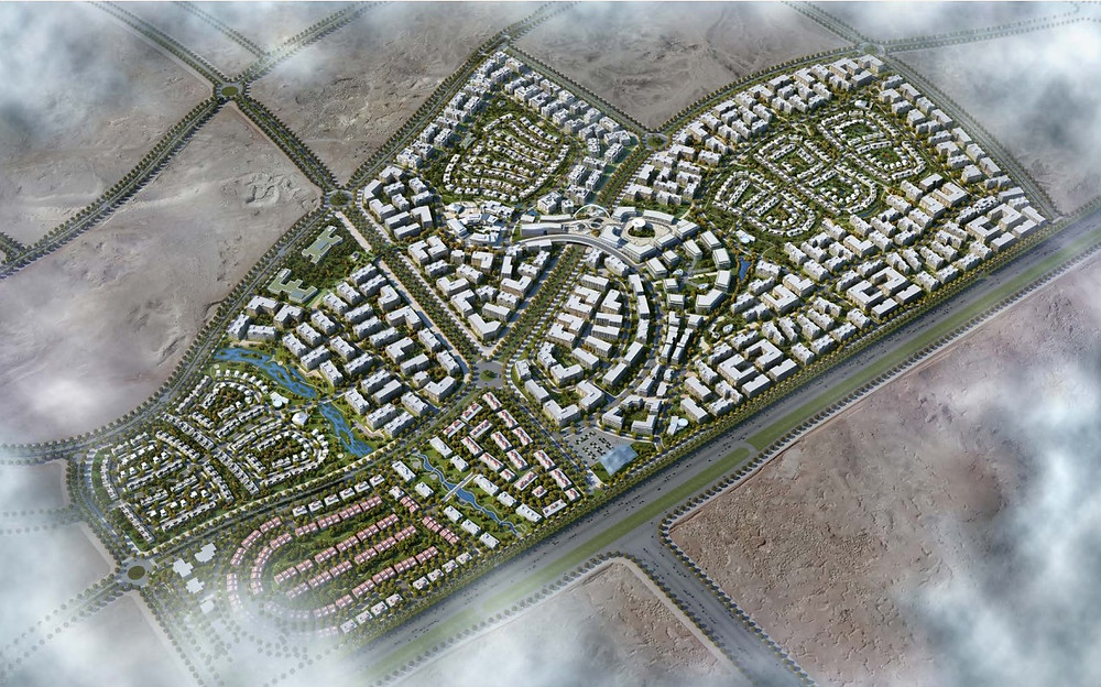 full master plan of the City of Odyssia in Mostakbal City
