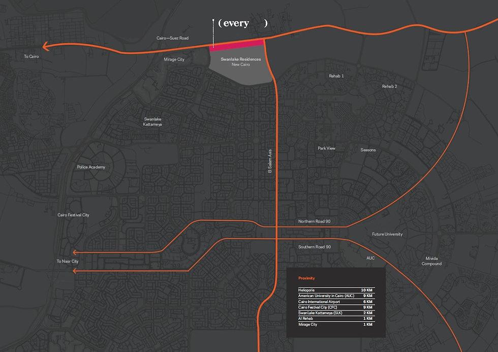 Location of (every ) Swanlake Residences