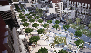Landscape design of Park Lane New Capital