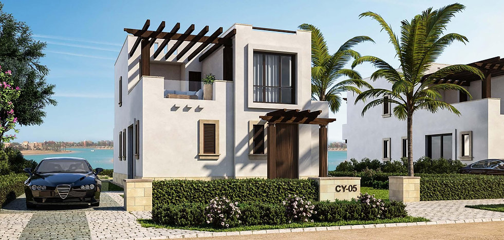 Cyan El Gouna Type A Villa 138 sqm exernal design entrance view