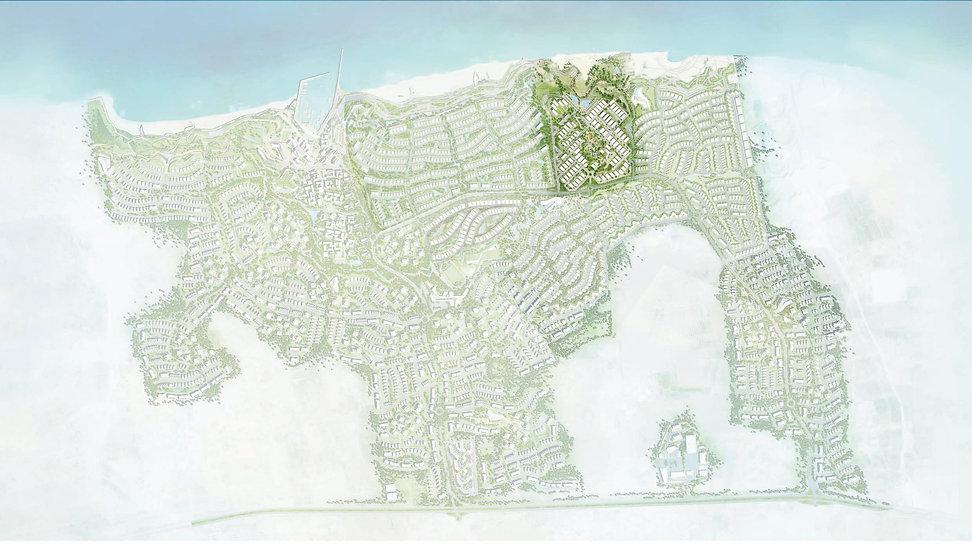 Location of Seacliff Neighbourhood in Jefaira Master Plan