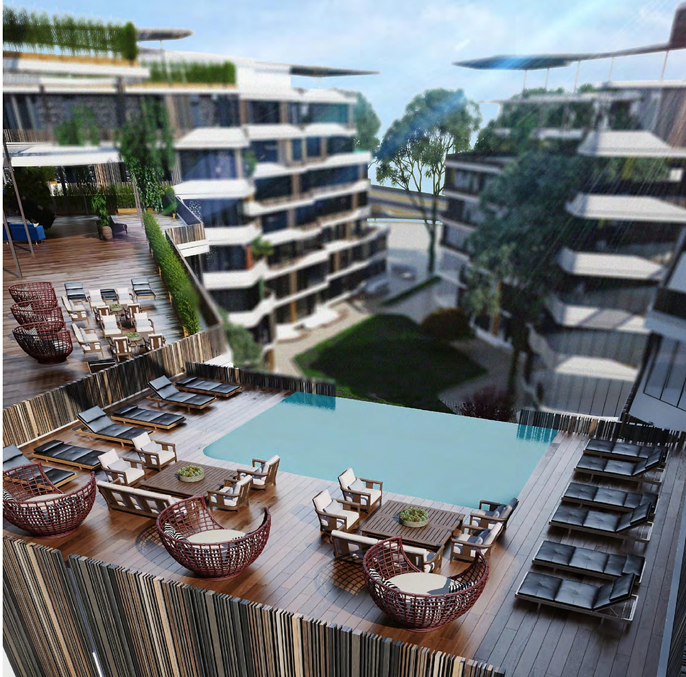 Exterior designs in Bloomfields in Mostakbal City by Tatweer Misr