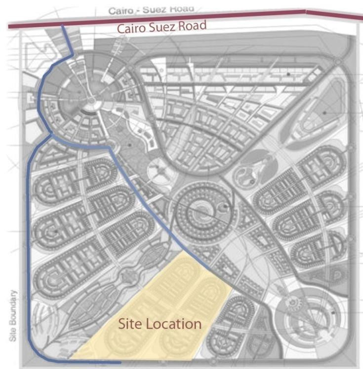 Location of Capital Gardens on Sarai master plan