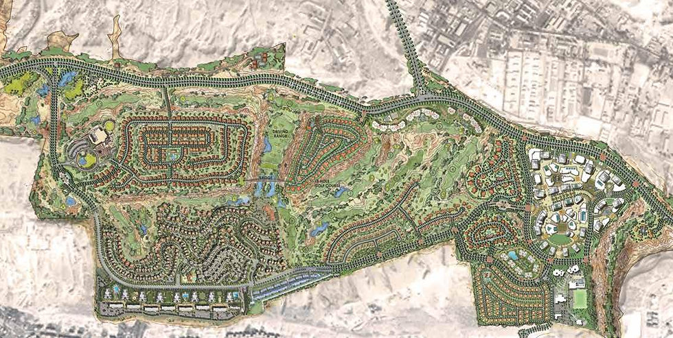 the locaton of the Sierras on the Master Plan of Uptown Cairo