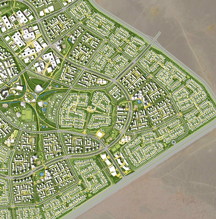 Master Plan for phase 1 of Badya in 6th of October West Cairo by Palm Hills Developments