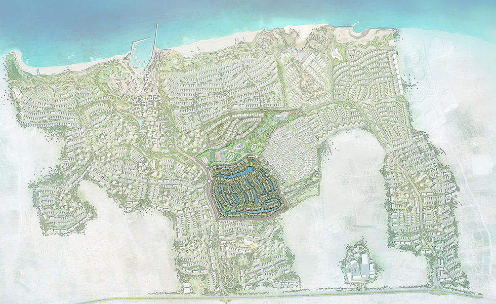 location of Ayla in Jefaira Master Plan