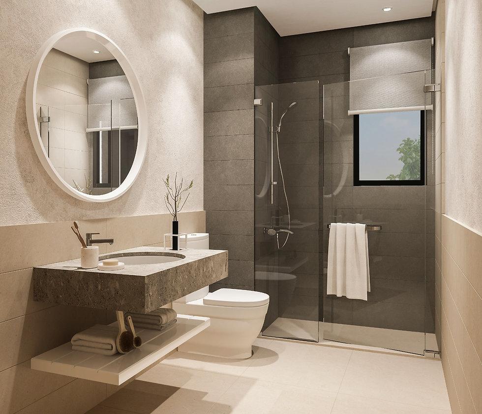 Interior design bathroom in Sole Villas