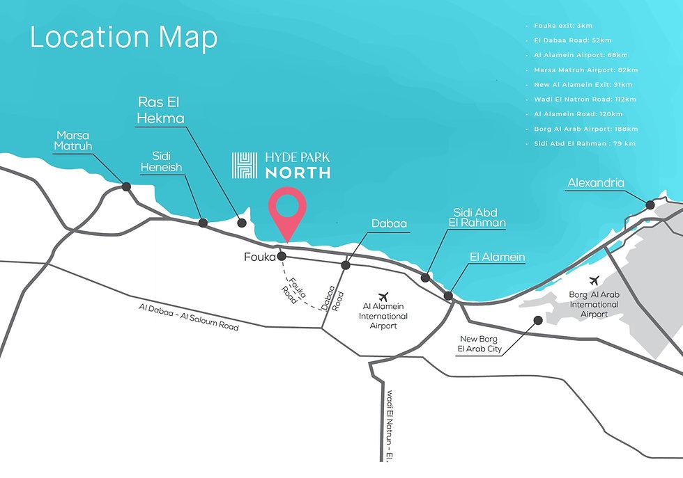 Location of Hyde Park North Ras El Hekma