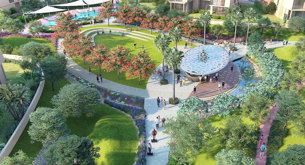 Landscape design in Swanlake Residences