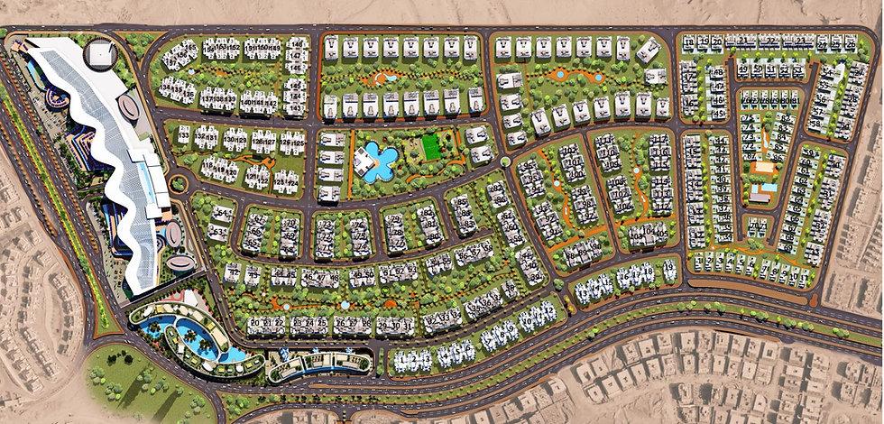 master plan for Fifth Square Compound Almarasem