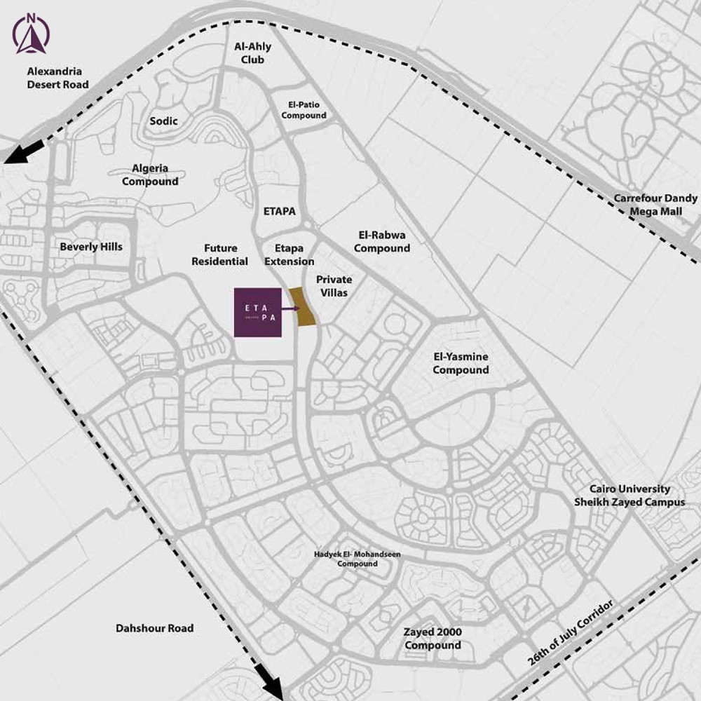 Location of Etapa Square in Sheikh Zayed City