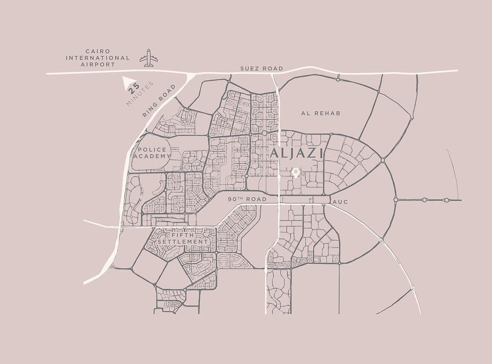 Location of Al Jazi Egypt in New Cairo