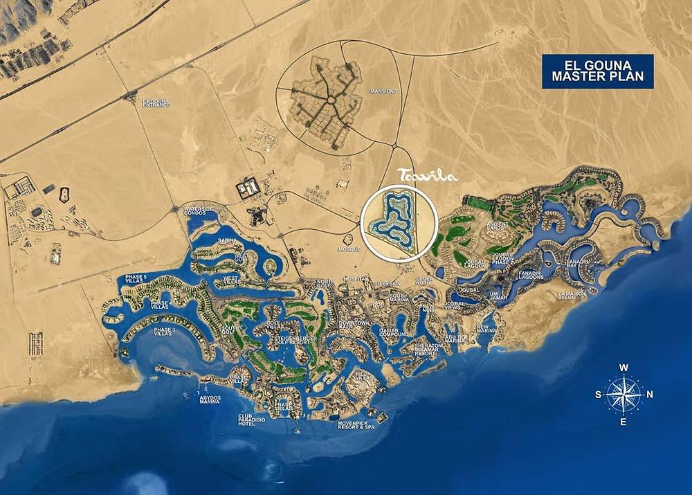 Tawila Development on El Gouna Master Plan
