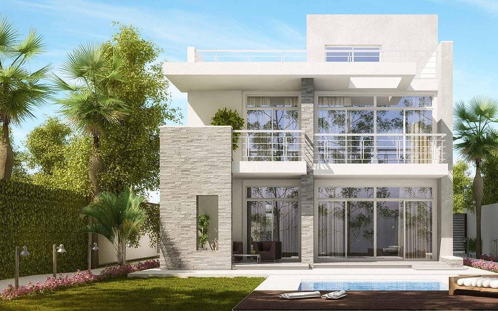 Back garden of Modern Standalone Villa in AlMaqsad