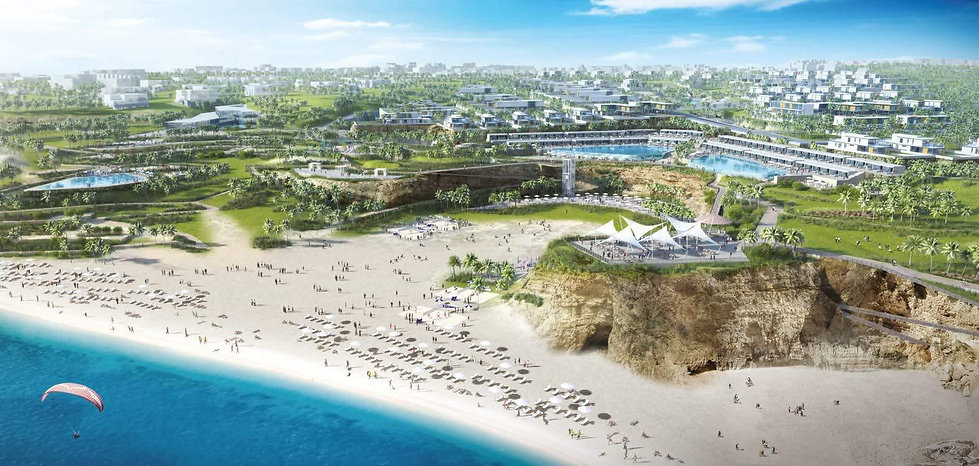 Cove Beach 3D render in Jefaira North Coast