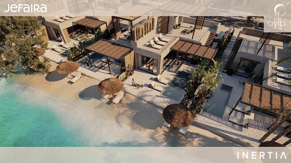ariel view of a single floor twin villa in Ayla Jefaira by Inertia Egypt