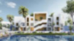 Apartment buildings in the Cribs Neighbourhood in Jefaira