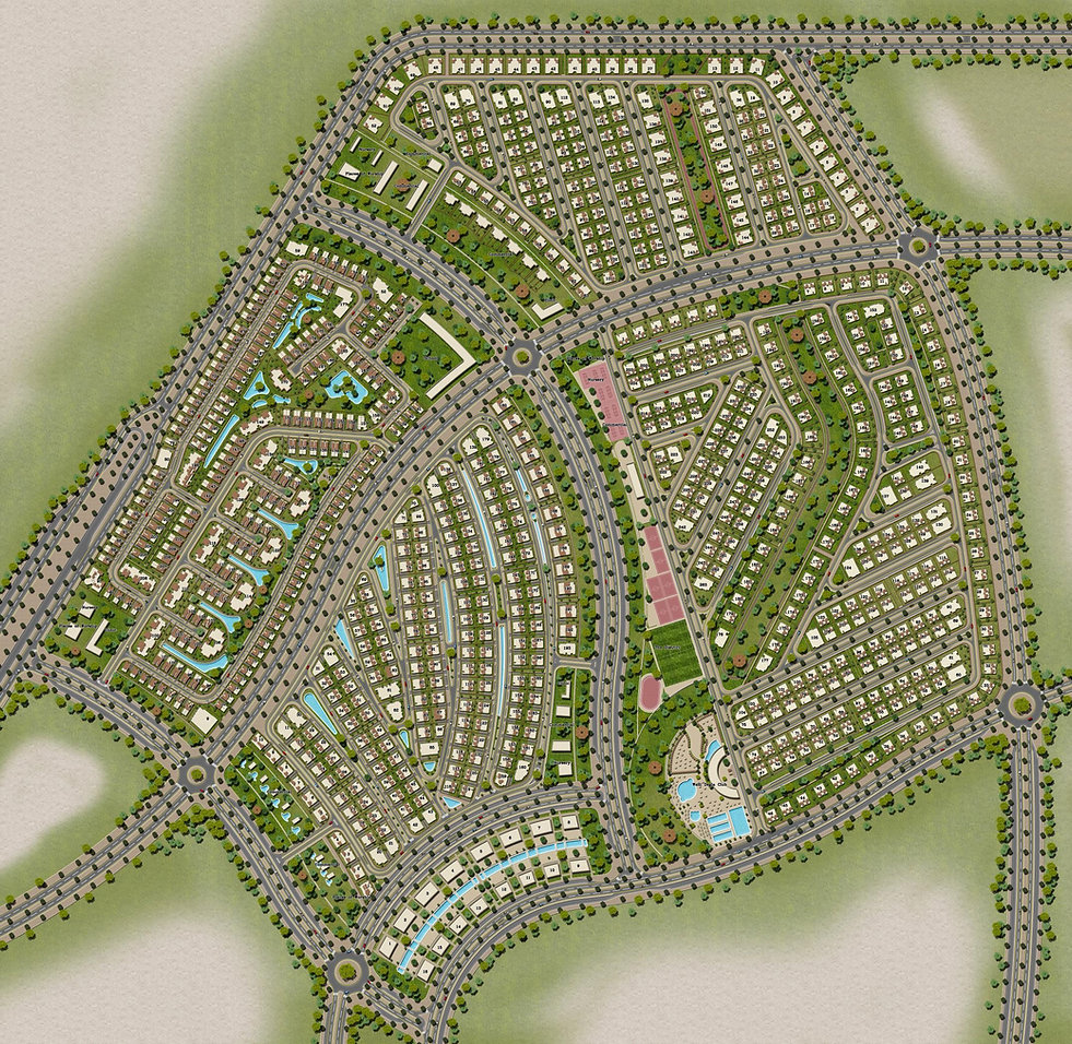 master plan of Neopolis development in Mostakbal City
