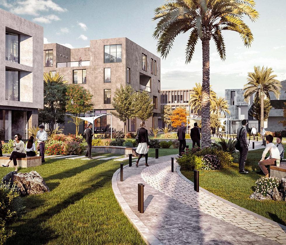 Landscape design in O Business District